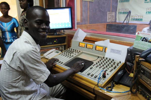 Savane FM broadcast their regular radio talk show on FGM/C across the capital in Burkina Faso. Credit: Jess Lea/DFID